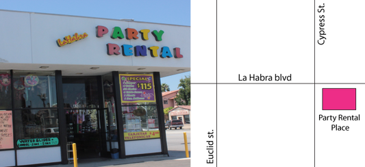 Directions for Party Rental Place in La Habra